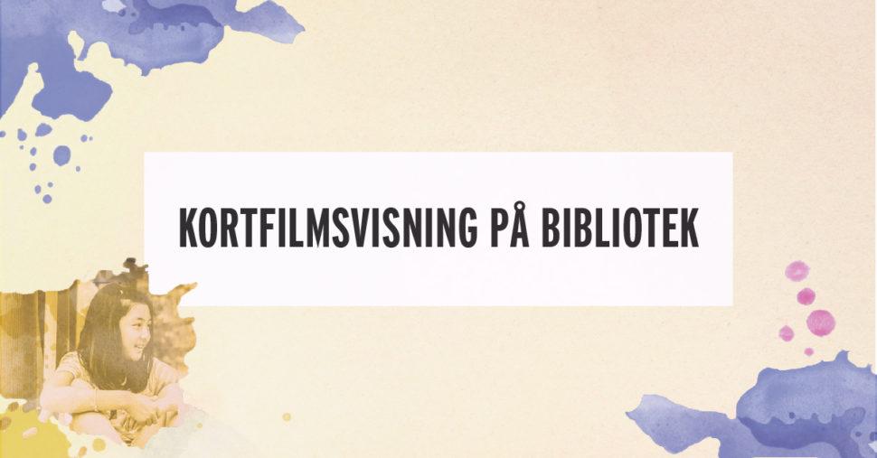 Kortfilmsvisning på bibliotek