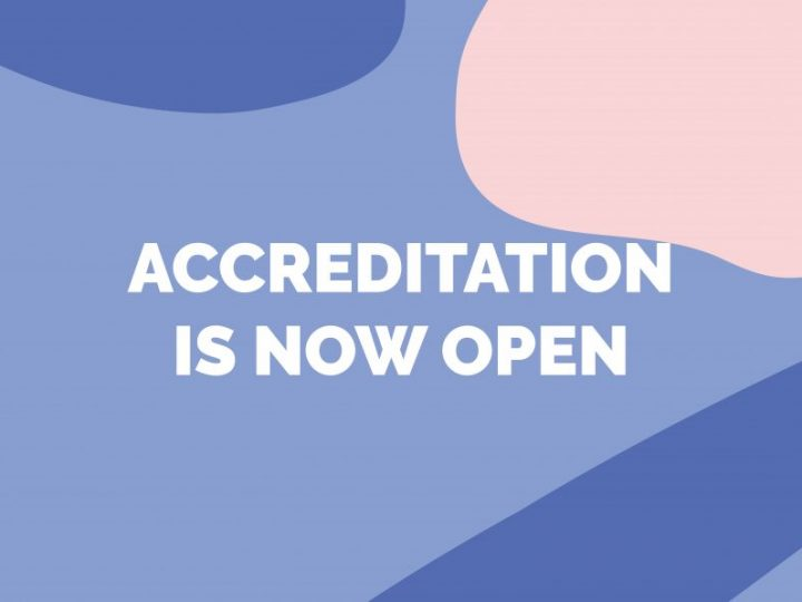Accreditation is now open!